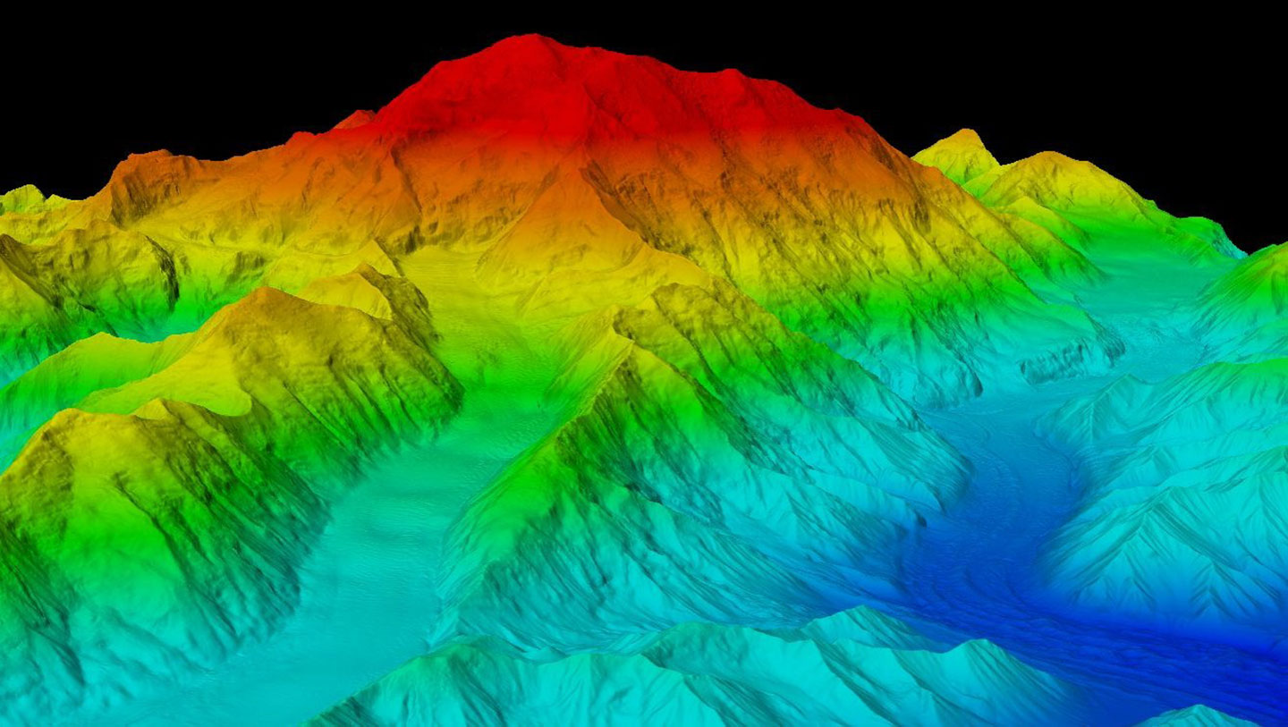 With many valleys shrouded in fog and cloud cover, IFSAR technology proved the most effective mapping technology.