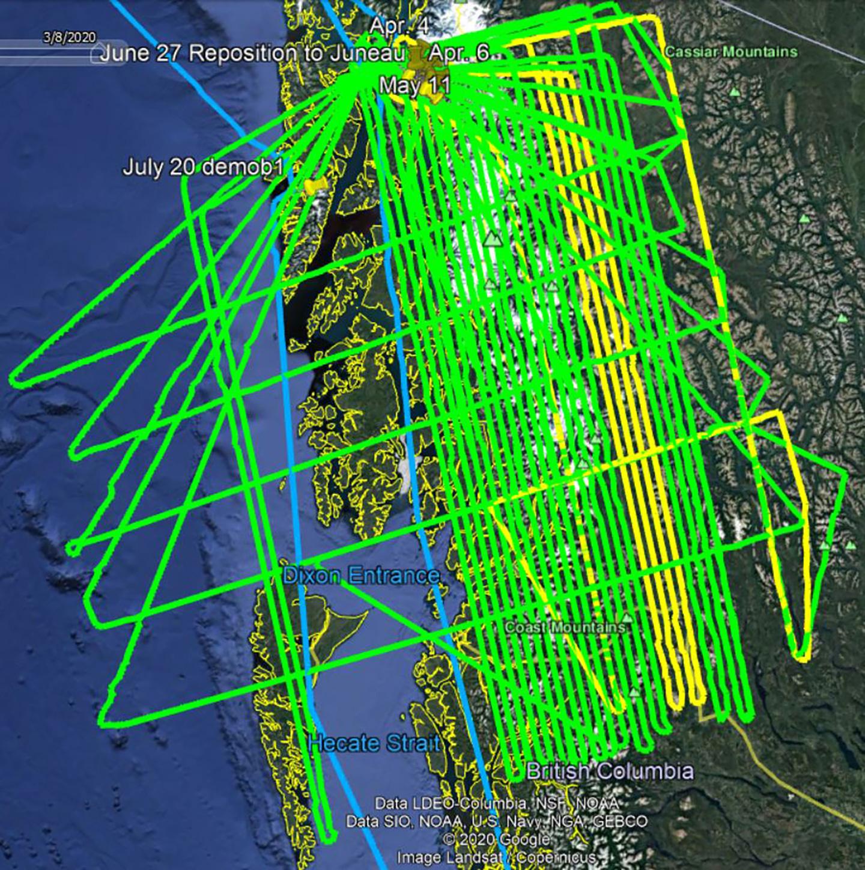 Sample GRAV-D flight track.