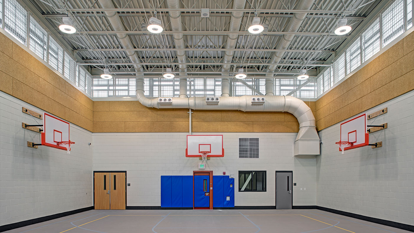 The new gymnasium is one of the unique features offered to the youth onsite.