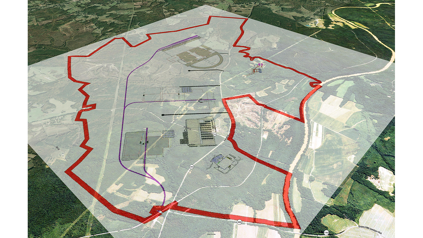We are providing ongoing master planning services for the new 3,500-acre industrial park.