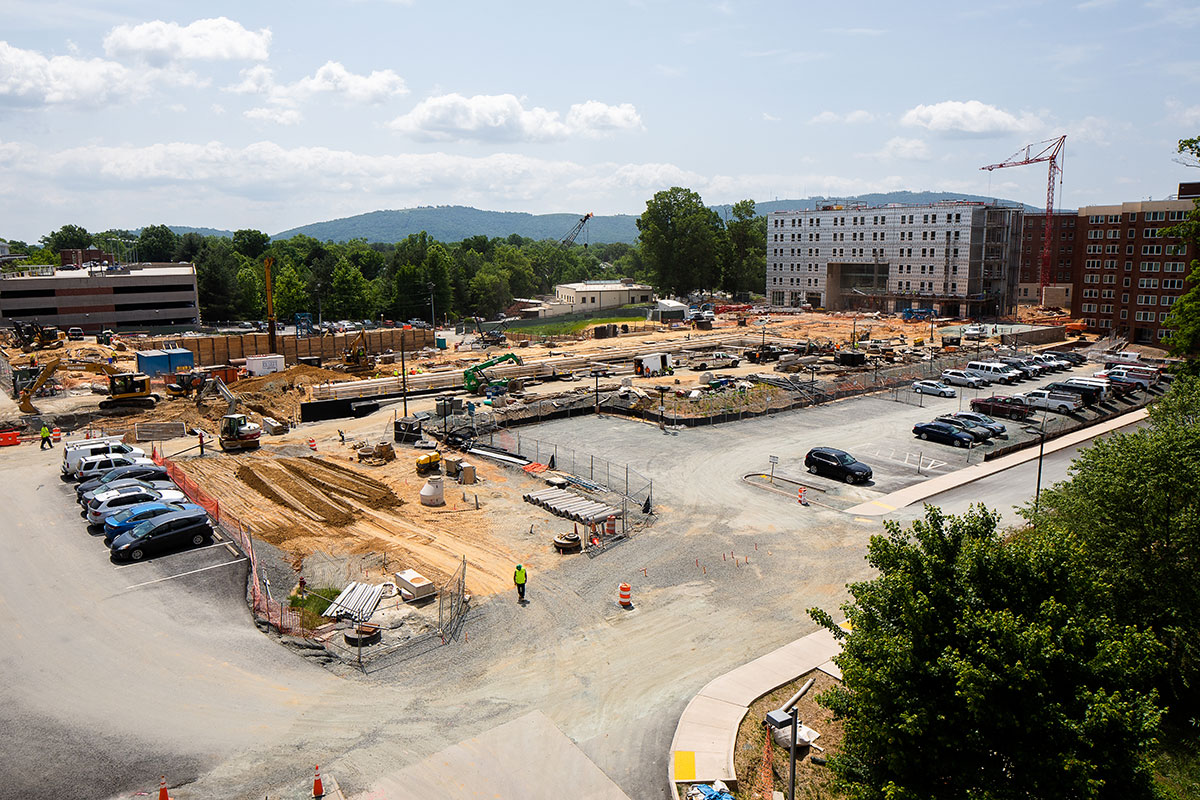 The site at UVA's Brandon Avenue/Green Street is prepped for development and spans 14 acres. Photo courtesy of Dewberry.