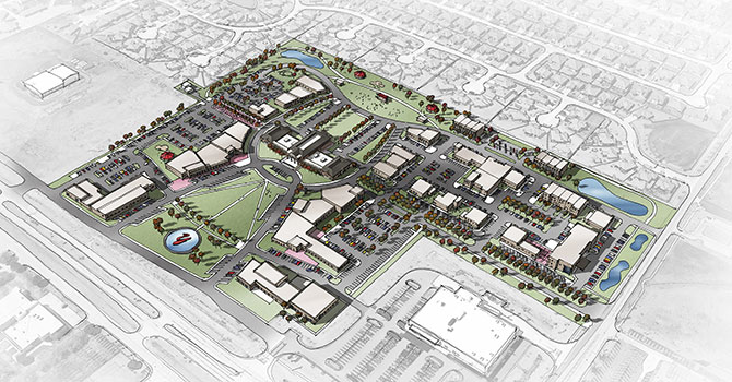 Yukon Town Center masterplan