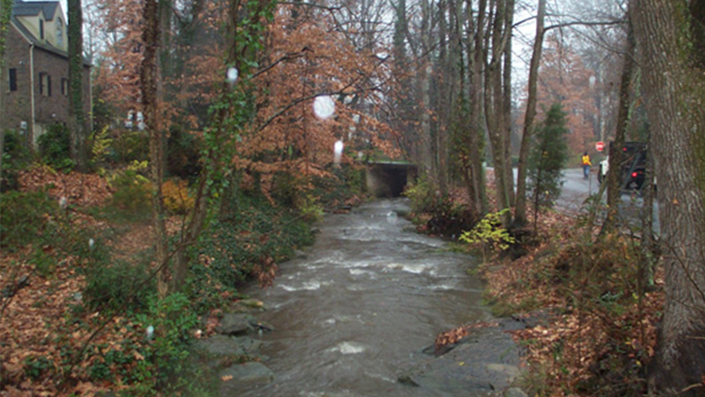 We examined streams for instablility and potential flooding.
