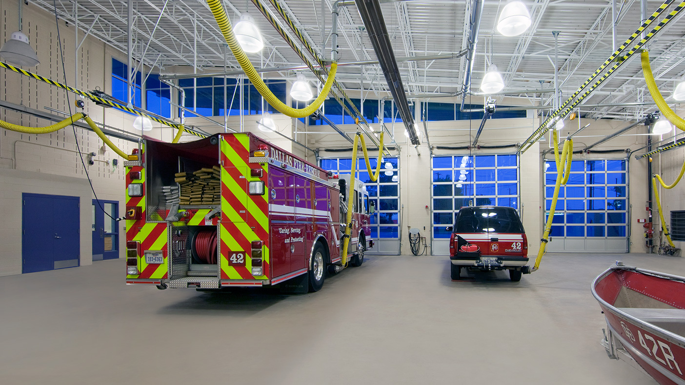 The 12,067-SF facility includes space for two full-depth and two half-sized apparatus bays.
