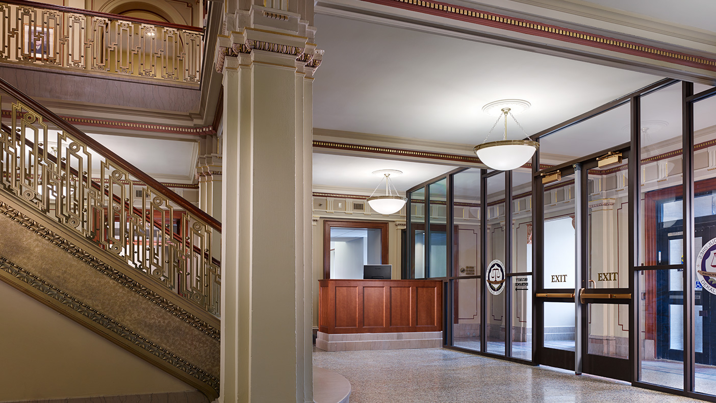 We worked closely with the City of Sycamore to achieve building code compliance by incorporating a new enclosed staircase, sprinkler and alarm systems, and provision for handicapped access.