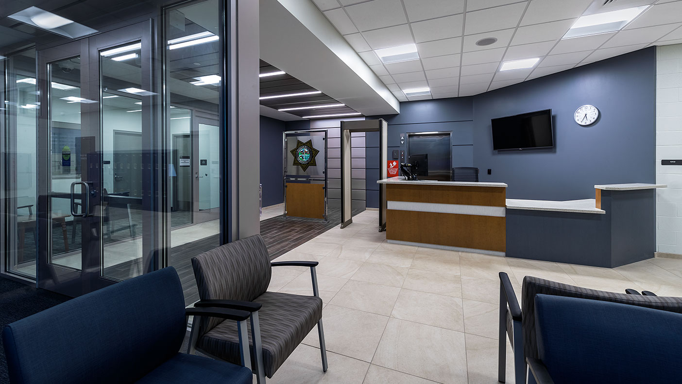 The facility's lobby was one of several updated components of the facility.