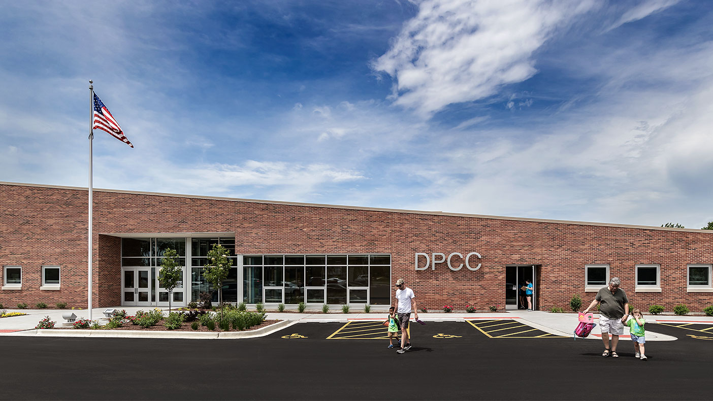 The new 21,000-square-foot facility sits within the popular, 200-acre Dellwood Park.