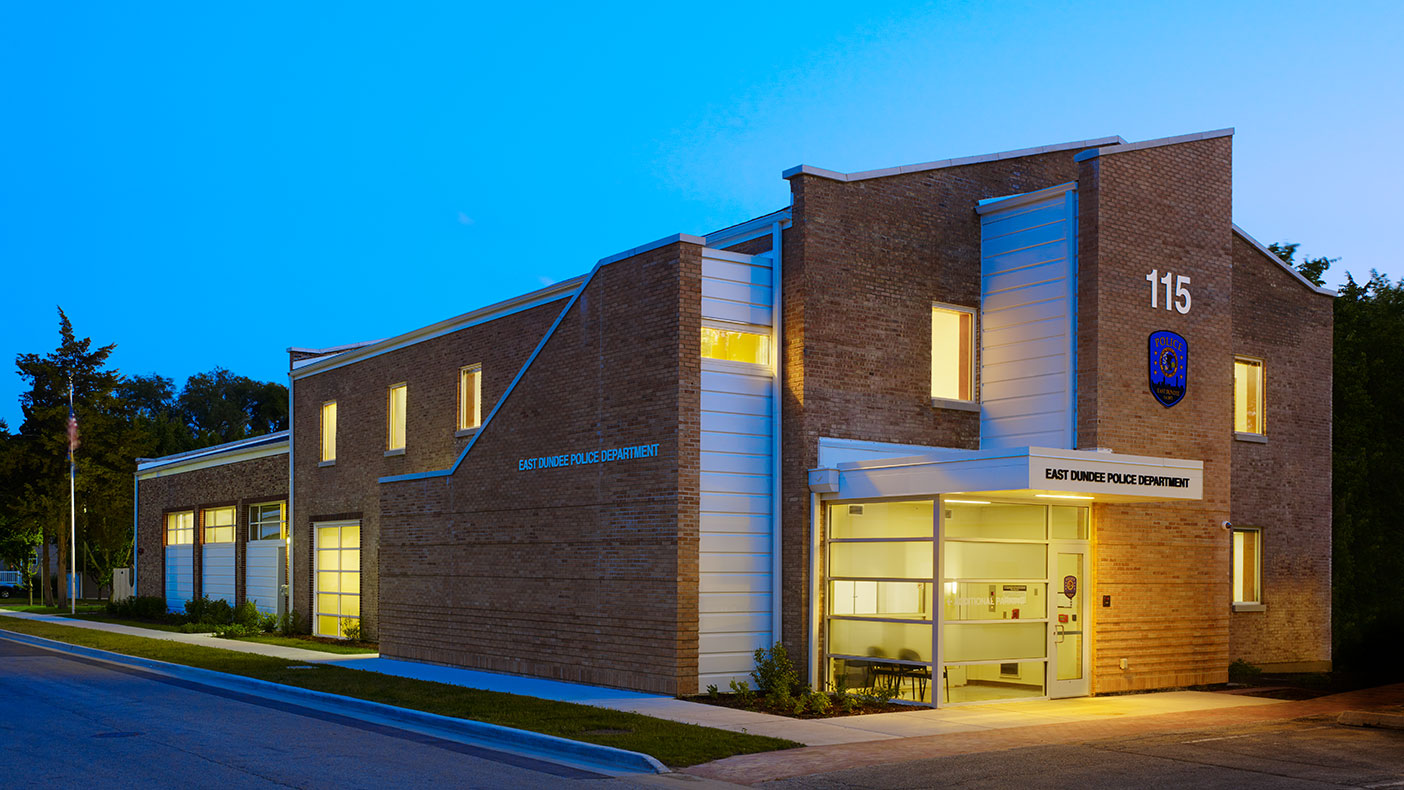 We designed the adaptive reuse of a 10,933-square-foot fire station to become the community's police facility.
