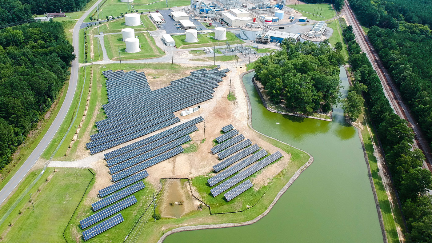 The new solar energy storage farm in Fayetteville provides enough energy to power the equivalent of 100 homes.
