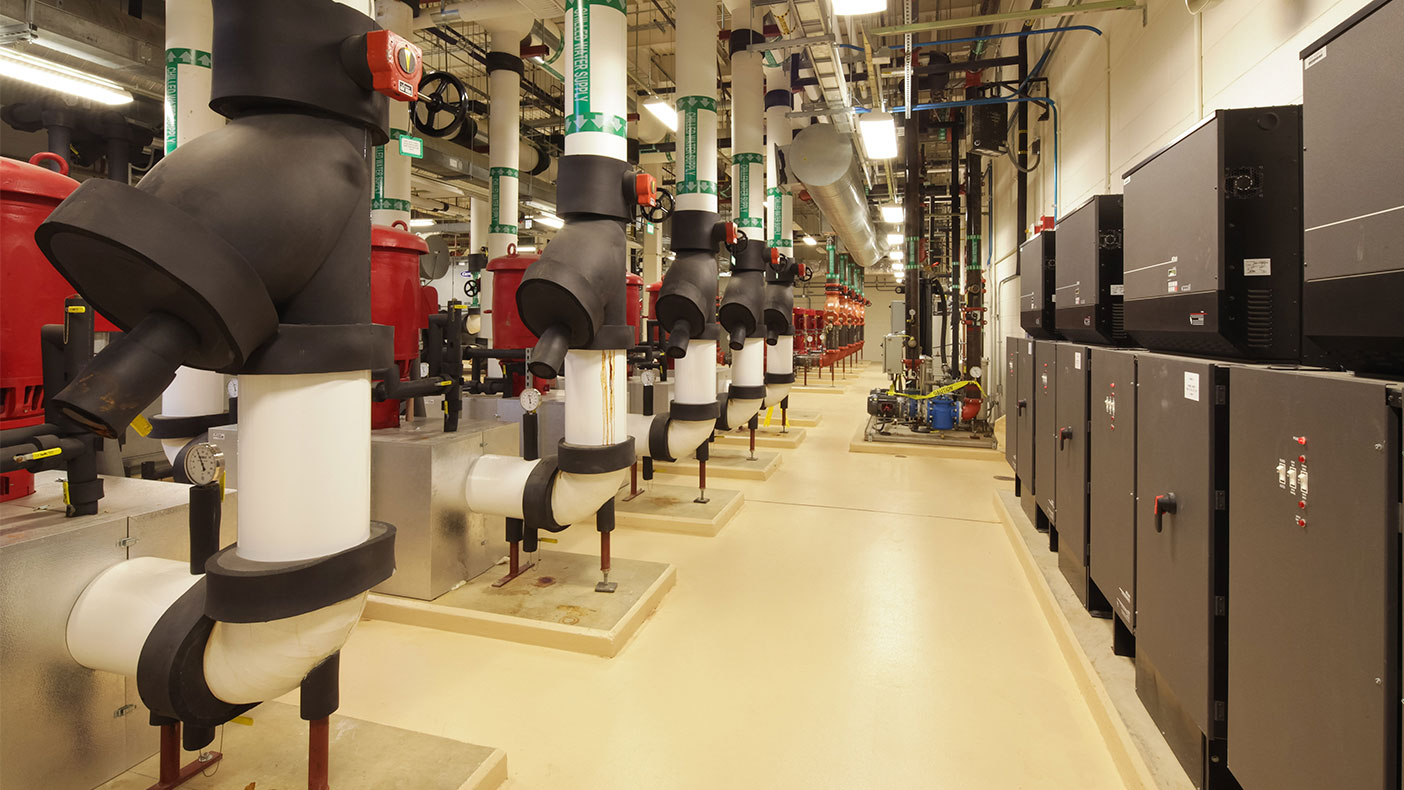 The 28,250-square-foot CUP includes multiple energy-efficient and redundant features and supports critical heating and cooling in case of an outage.