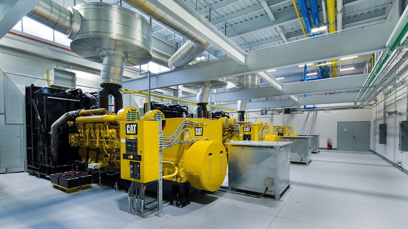 Three new 2,500 KVA emergency generators produce up to 7.5 million volt amps in the event of normal electrical supply failure.