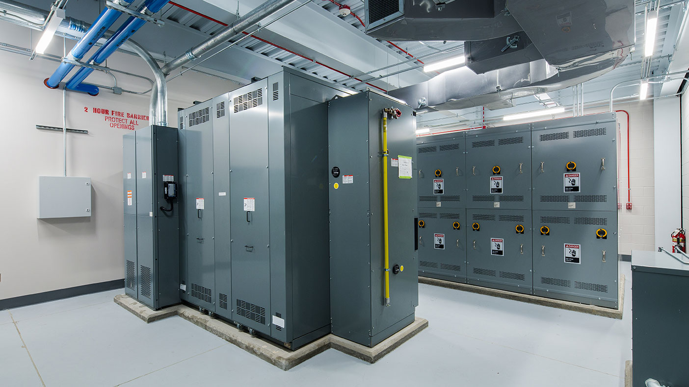 We consolidated the campus' complex electrical service into a 12.5 kV campus distribution system fed by dual utility connections.