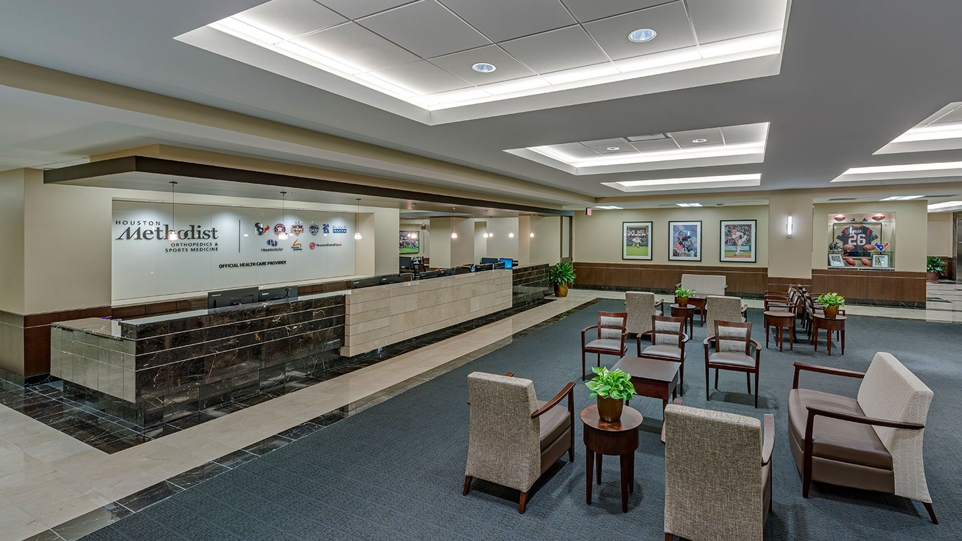 The Houston Methodist Hospital Outpatient Center Orthopedic Sports Medicine Clinic was designed to accommodate the growing need for specialty care.
