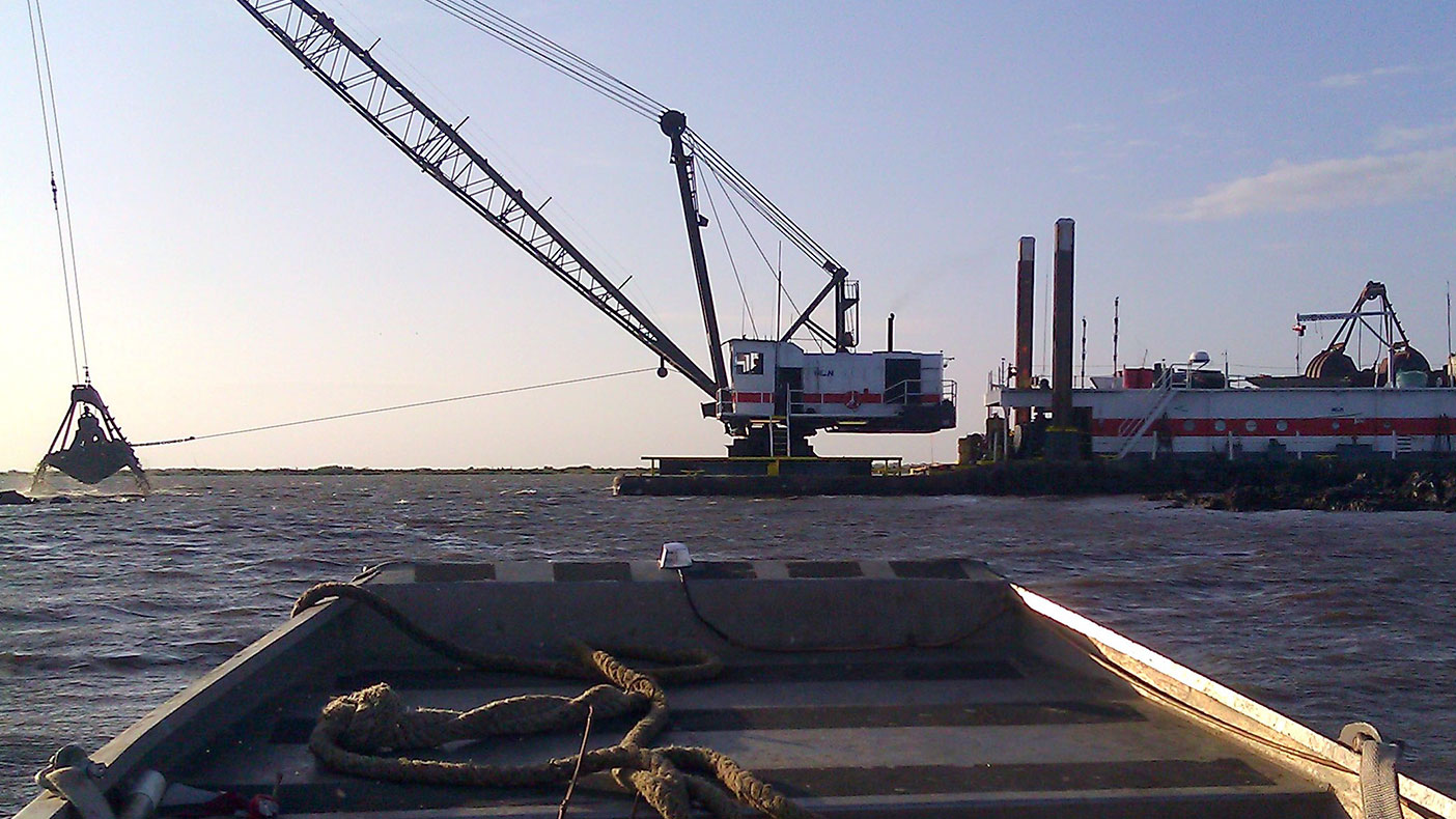 We worked closely with the Louisiana Coastal Protection and Restoration Authority to ensure dredge deposits were accurately reported and measured. We also photographed the restoration progress.