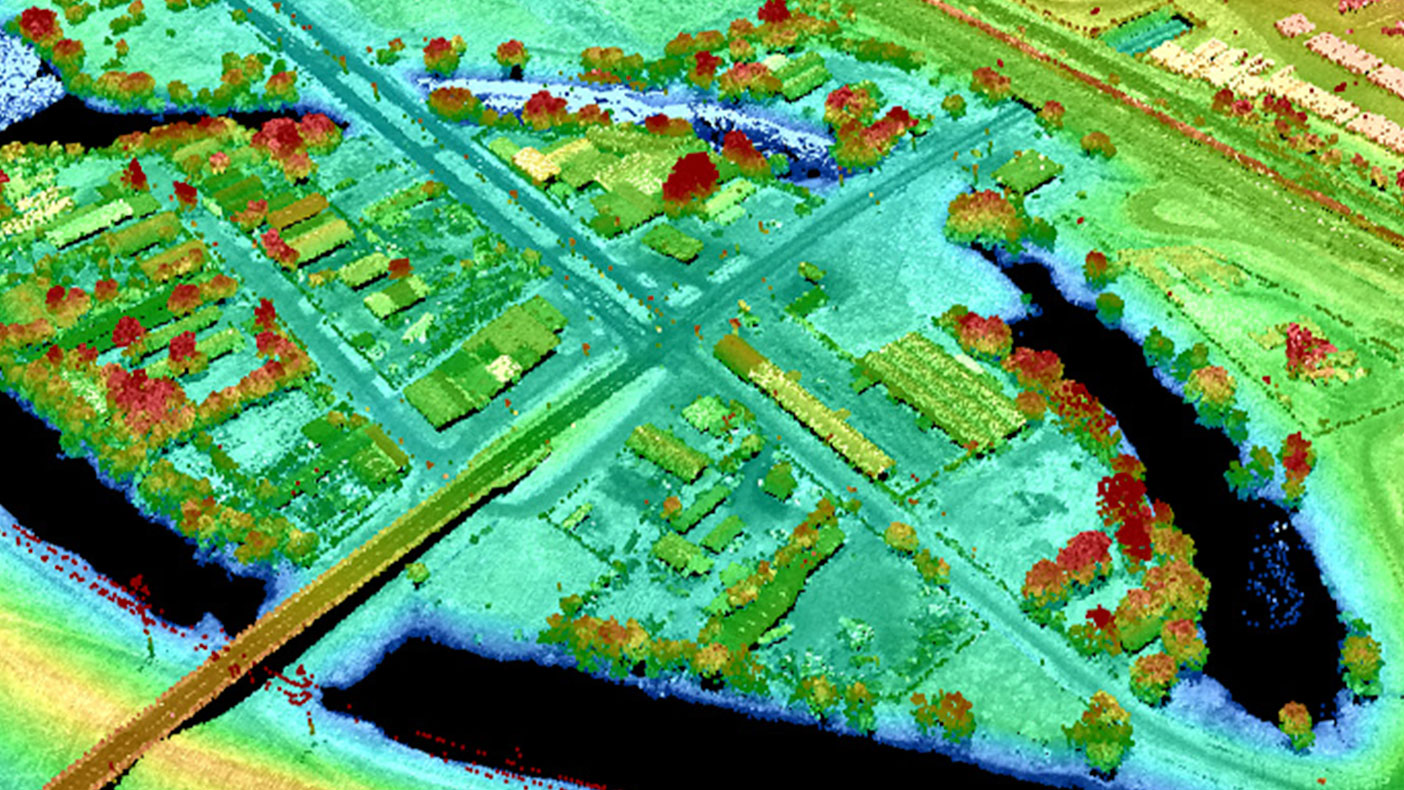 We used LiDAR data to locate and identify elevations of each property in order to perform a detailed flood risk assessment.