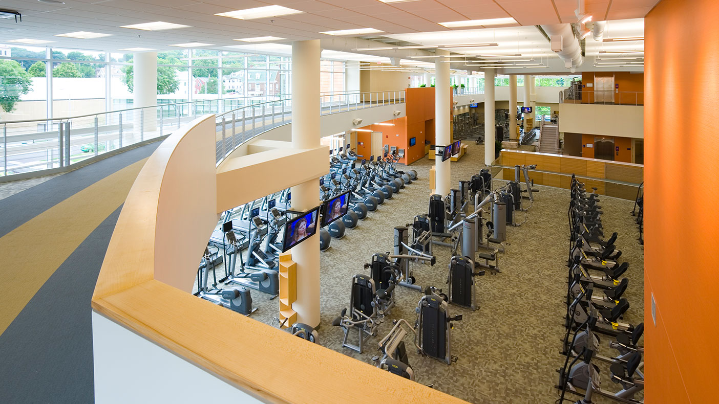 The center supports traditional fitness programs as well as ambitious programs in education and research.