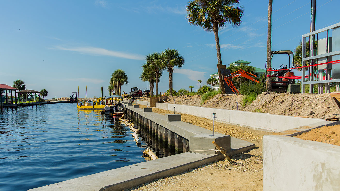The 26 dock pedestals will be equipped with water, electric, and internet to service 55 new boat slips.