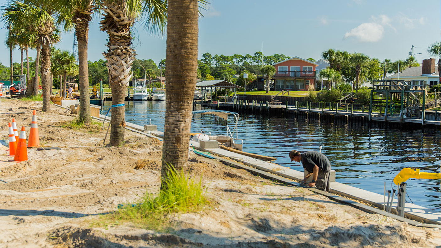 The new, improved marina will serve as a vital resource for the city.