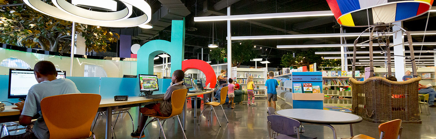 We delivered a design that offered a flexible, engaging space for patrons of all ages to learn, grow, and have fun.