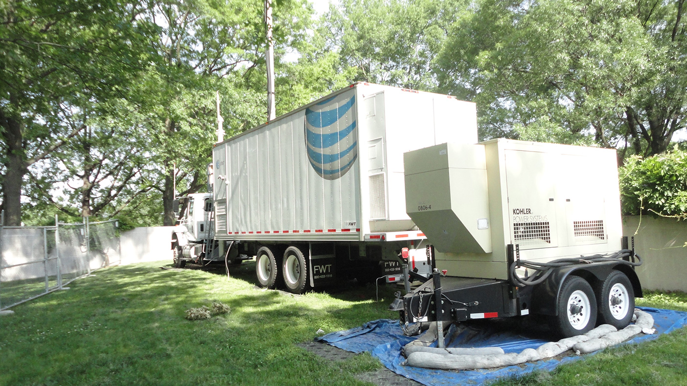 We also installed permanent power and telco connections so this location could not only be used for the Cherry Blossom Festival, but also provide a convenient connection point for this cell on wheels (COW) in the future.