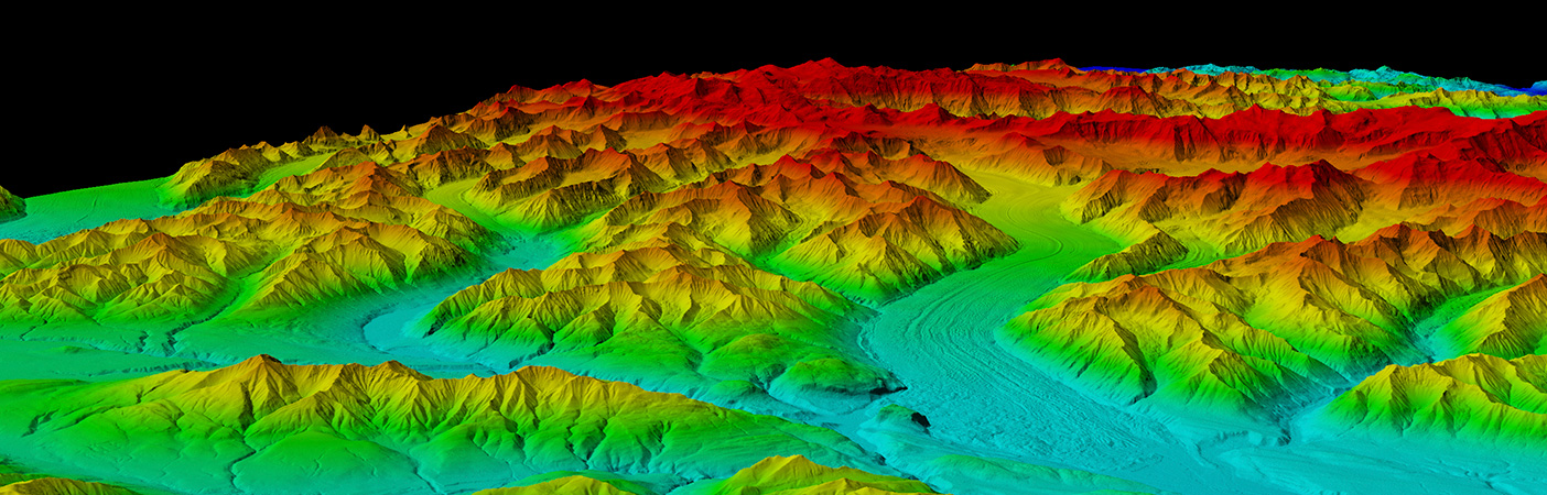 LiDAR slope data is essential for pipeline routing across mountain ranges and beneath rivers, construction planning, encroachment control, and asset inventories.