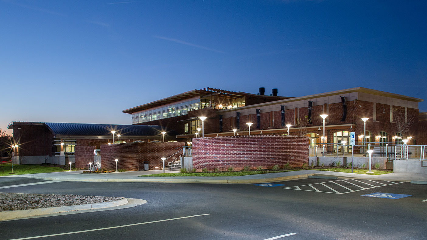 The New College Institute (NCI) is located between uptown Martinsville, Virginia, and a residential area. The NCI Building on the Baldwin Block welcomes community members with doors on every side.