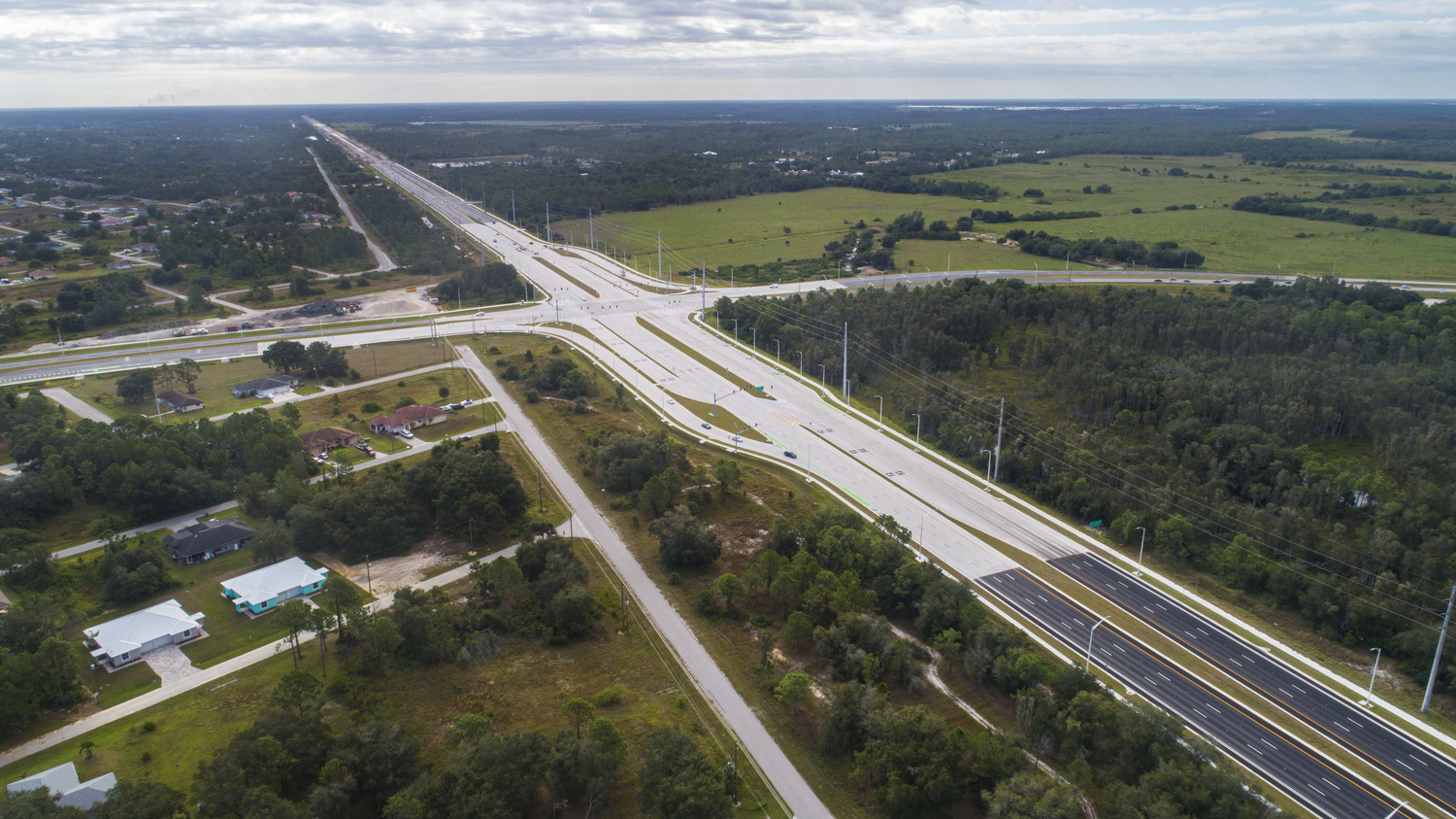 The SR 82 CFI project was named among Roads and Bridges magazine's Top 10 Roads of the Year in 2019. Photo courtesy of Mark Gall Photography.