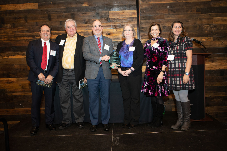 Richard Walls (WE, PLLC), Gene Conti (The Conti Group), Brian Bradner (Dewberry), Beth Smyre (Dewberry), Lee Anne B. Nance (Stewart, Inc.), and Amanda Conner (NCGTP) Photo courtesy of ACEC.