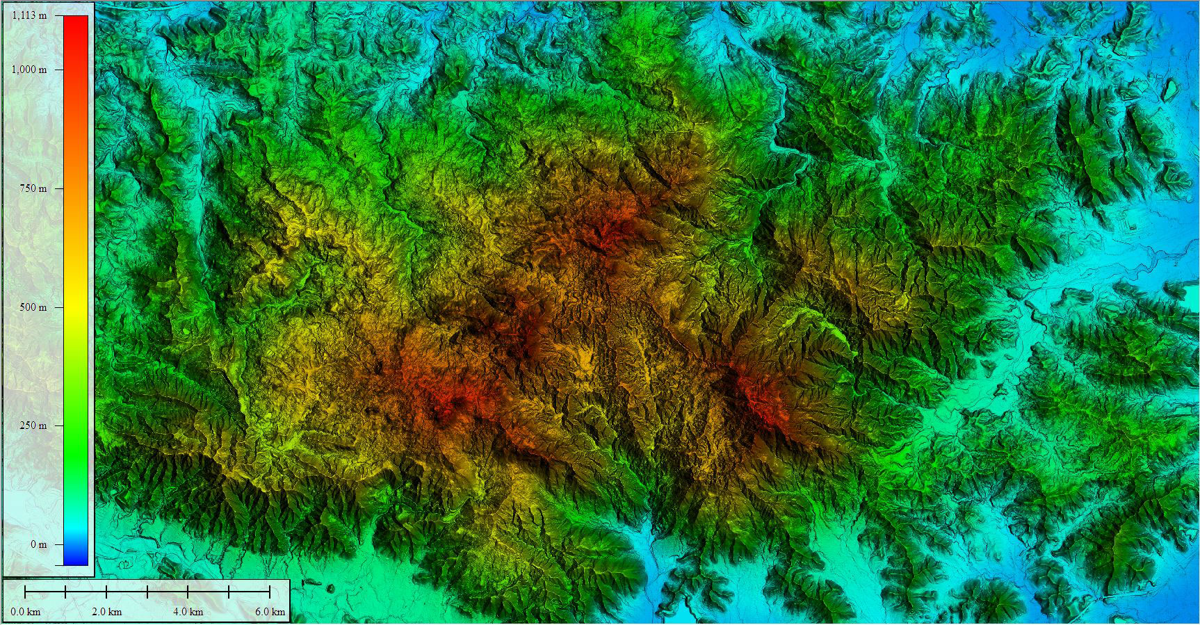 Digital Elevation Model of El Yunque National Forest produced from 2016 topographic lidar data. Photo courtesy of Dewberry.