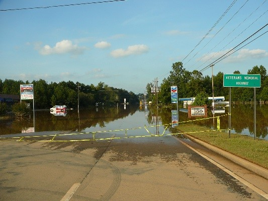 Sweetwater Creek has a long history of flooding, including a 2009 storm event.