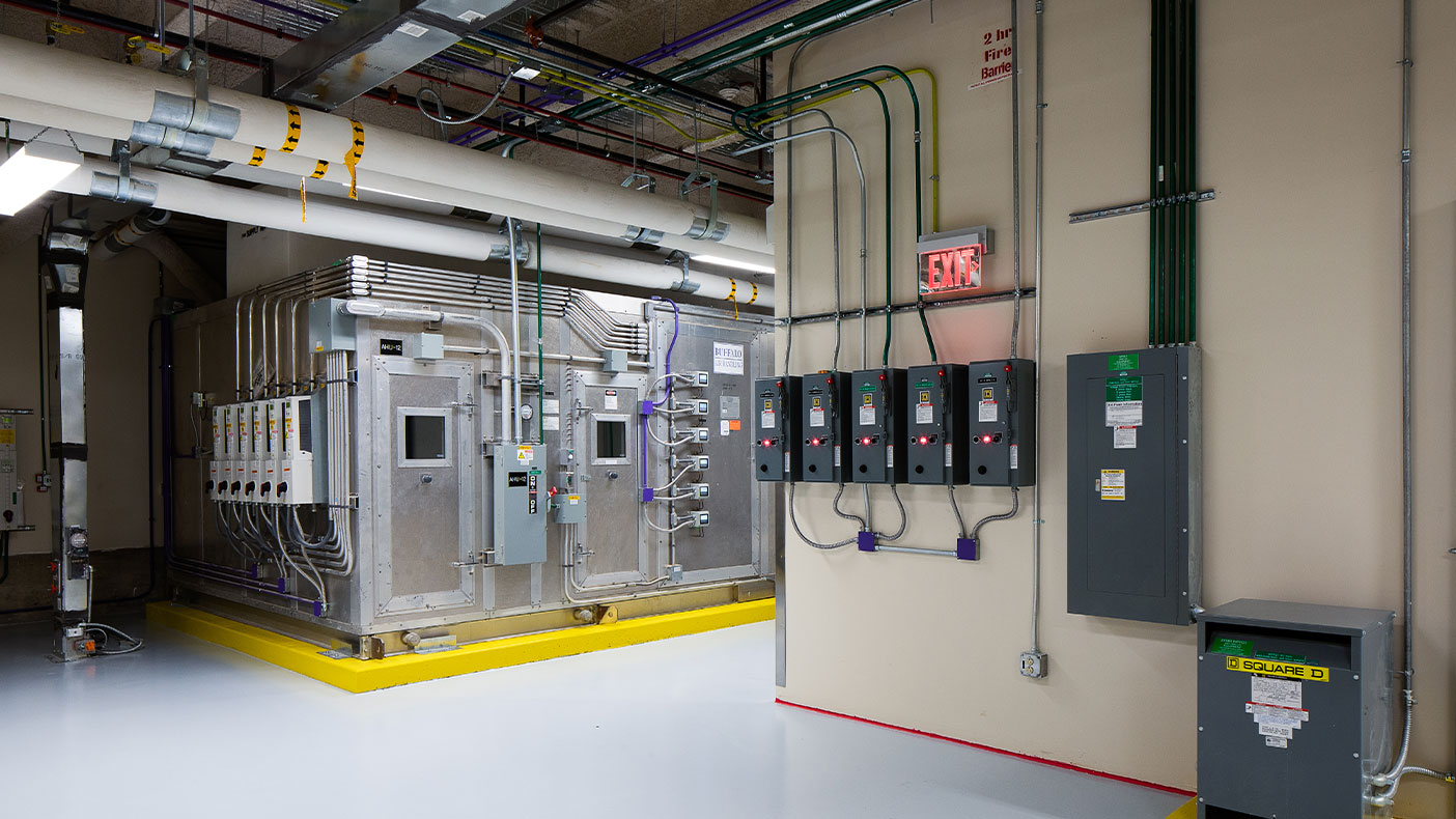 The upgraded MEP systems included a re-balance of the HVAC system, new electrical and medical gas outlet connections with the new room layout, and medical gas mains to support the phasing plan.