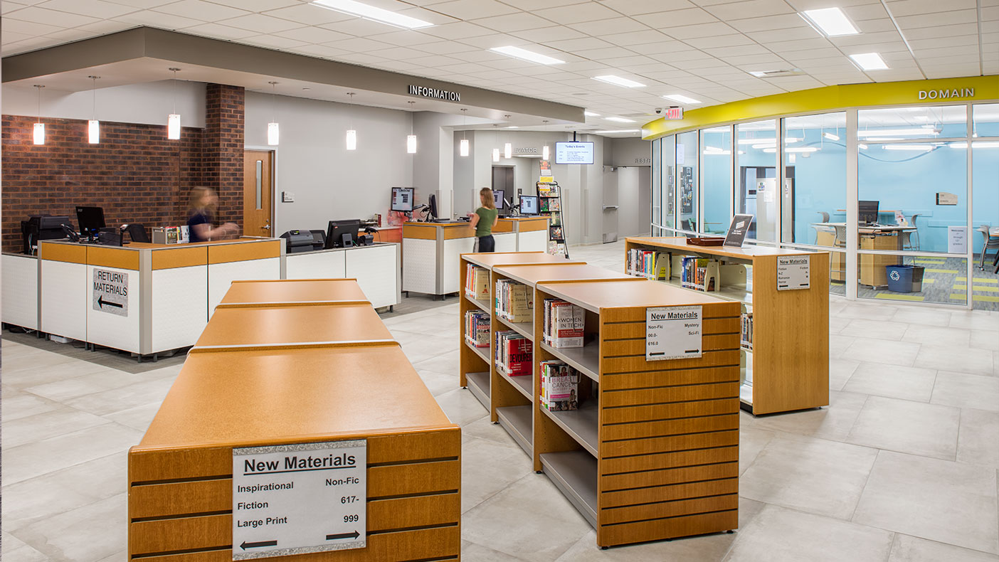 The 40-year-old Pekin Public Library received a major renovation to its 33,562 square feet of space.
