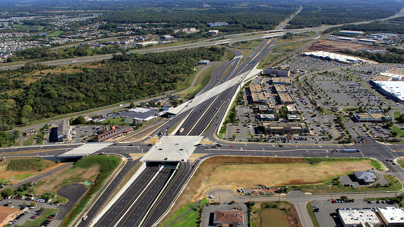 The I-66/Route 29/Linton Hall Road interchange improvement project met the needs of six user groups: freeway traffic, local traffic, freight rail, future passenger rail, pedestrians, and bicyclists.