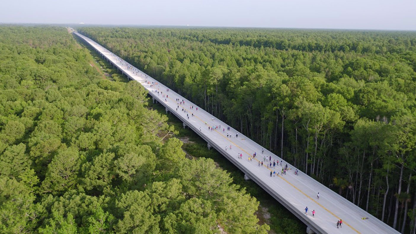 Spanning west across 3,500 acres of swampland, the parkway is part of a new transportation corridor. Image copyright Kissimmee/Osceola County Chamber of Commerce. Chris Lee, Greenlando Consulting, photographer.