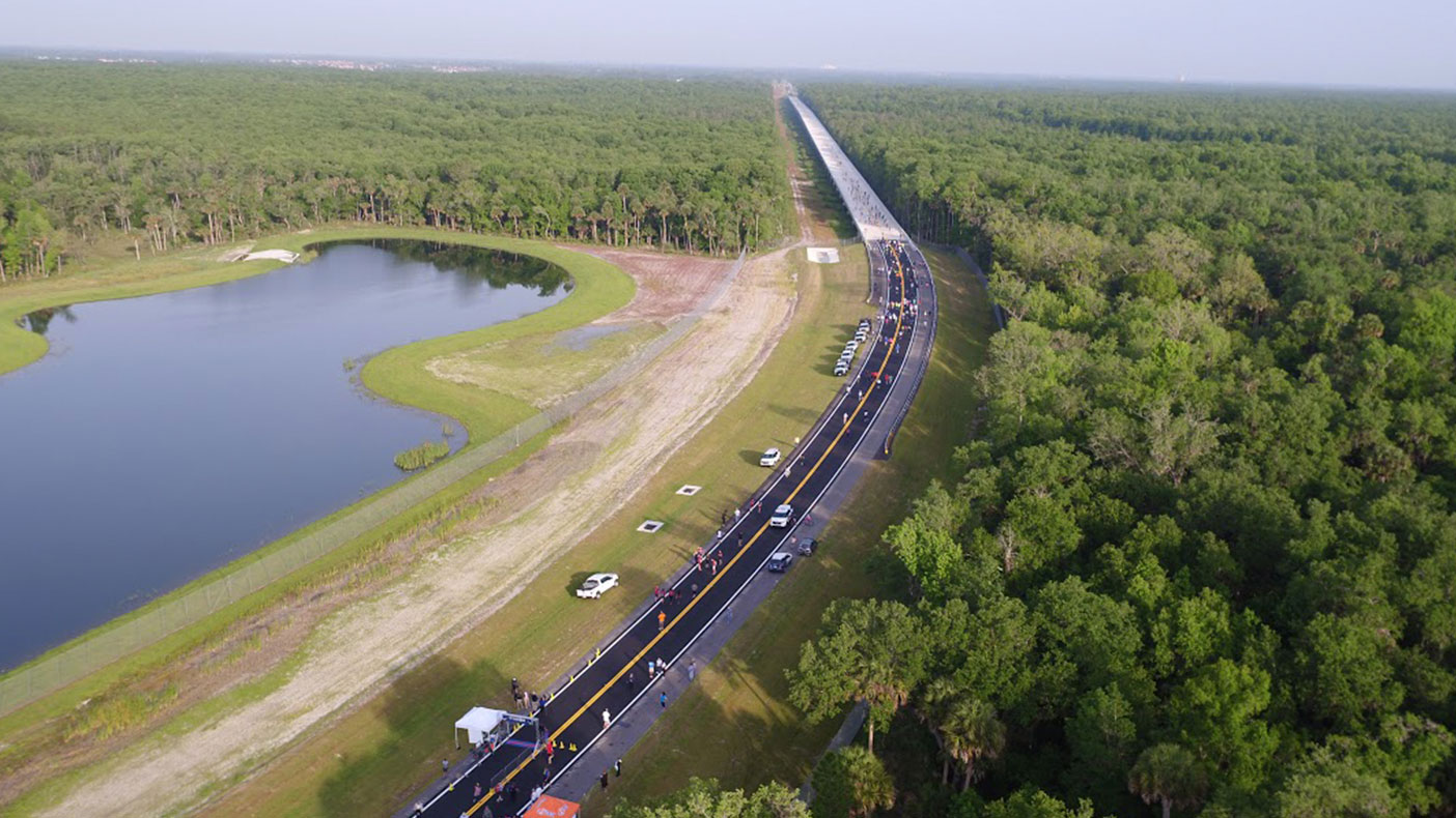 Our permits and designs anticipate an eventual four-lane expansion from the current two. Image copyright Kissimmee/Osceola County Chamber of Commerce. Chris Lee, Greenlando Consulting, photographer.