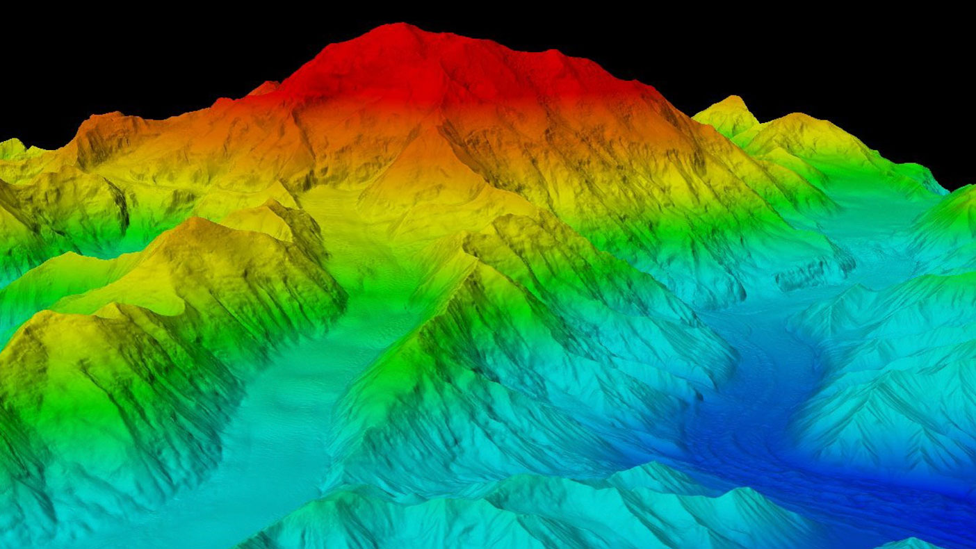 The previous elevation of Denali of 20,320 feet has now been revised to 20,310 feet. Snow and ice at the peak was calculated at 6.1 meters (approximately 20 feet) through the use of ground-penetrating radar.
