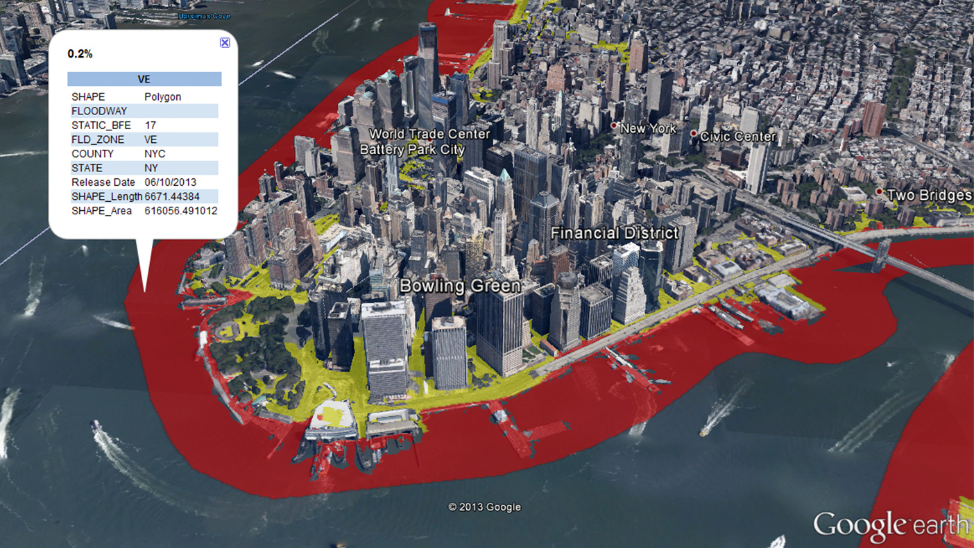 Our GeoTerrain tools within GeoRAMPP allowed us to analyze billions of elevation data points and develop mapping for 10 river forecast points in New York.