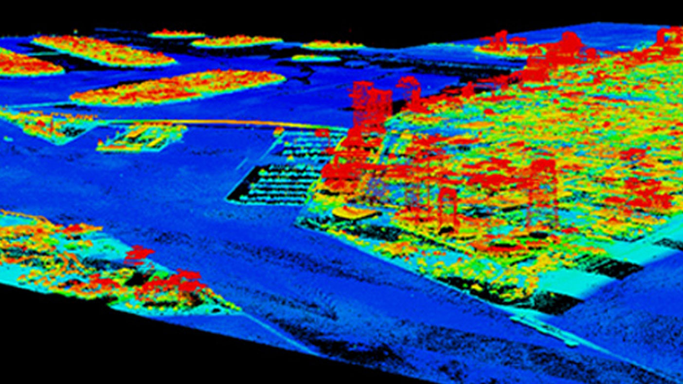 High-resolution, full cloud LiDAR data at the Port of Miami and South Beach is used as the basis for the SLOSH model elevations.