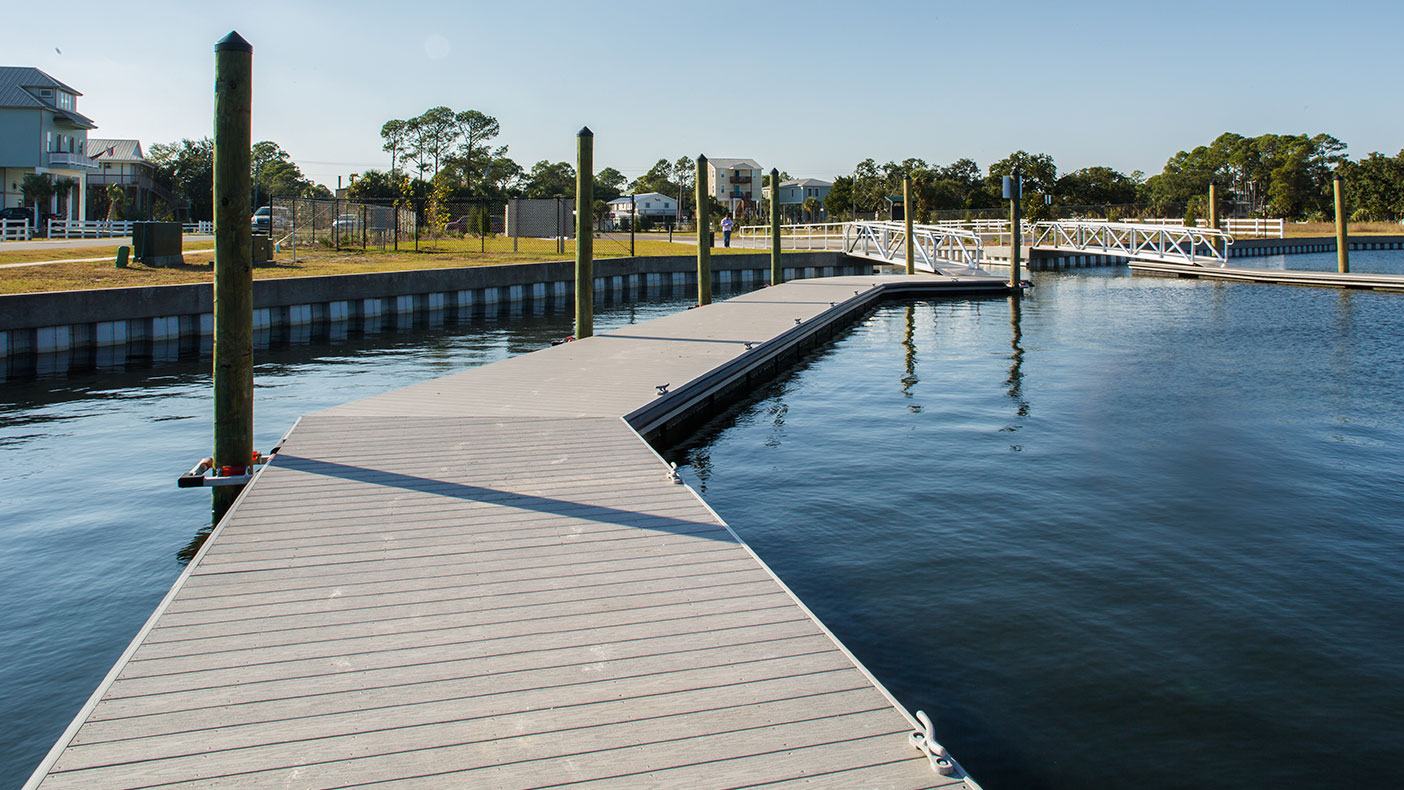 Two floating composite accessory docks were constructed.