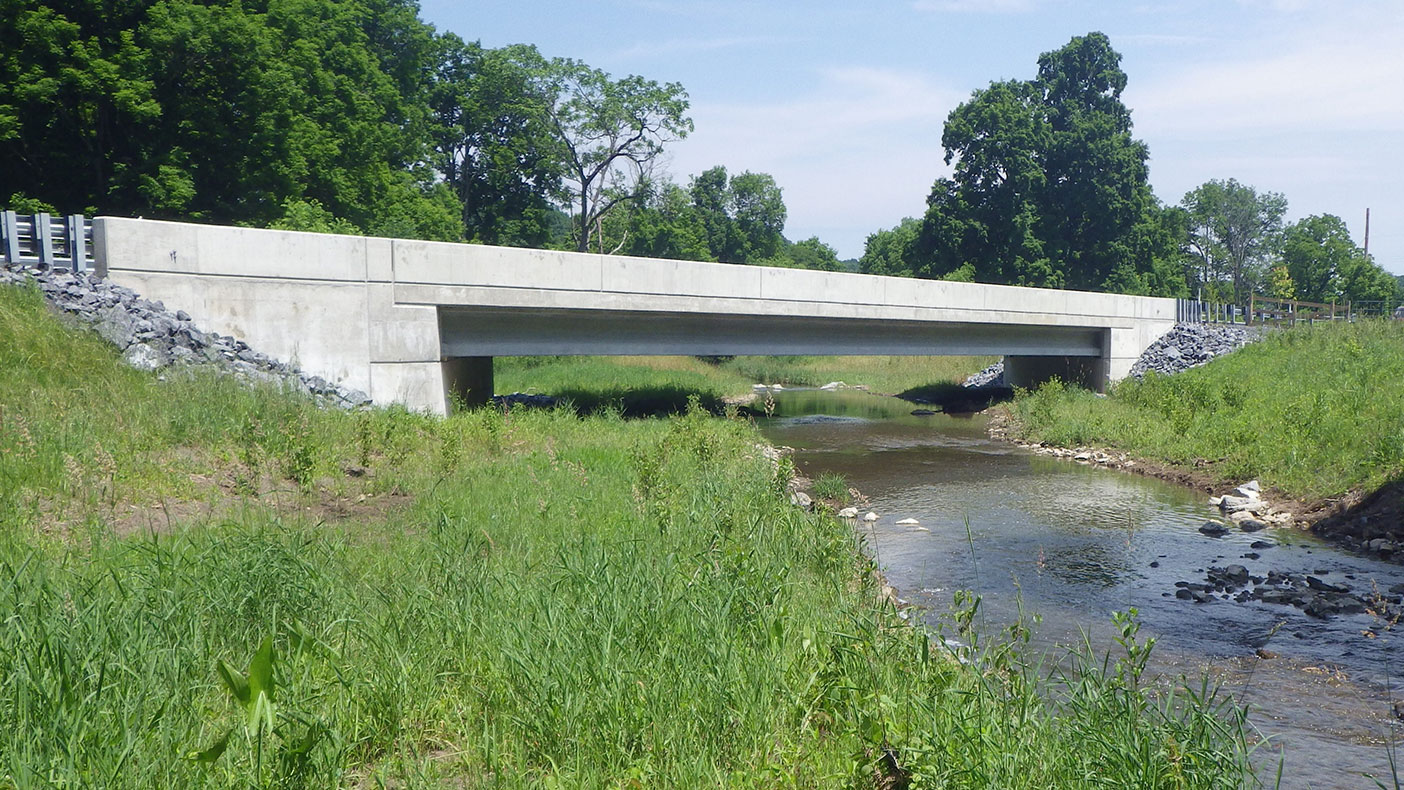 We provided the preliminary and final design, environmental engineering, and construction support services for the replacement of the 92-foot-long, two-span bridge carrying SR 0096 over Buffalo Run.