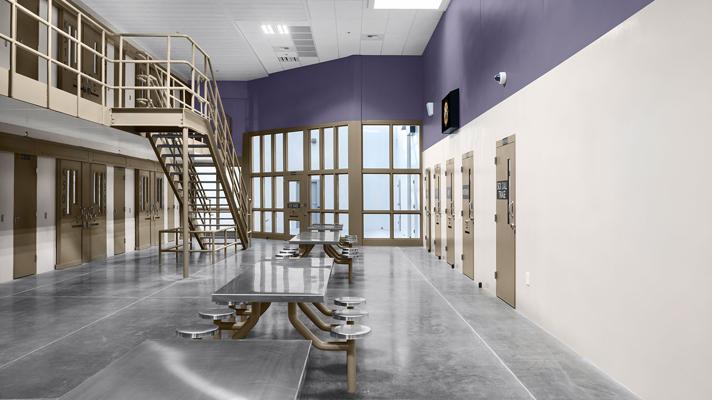 The expansion accommodates up to 537 inmates.