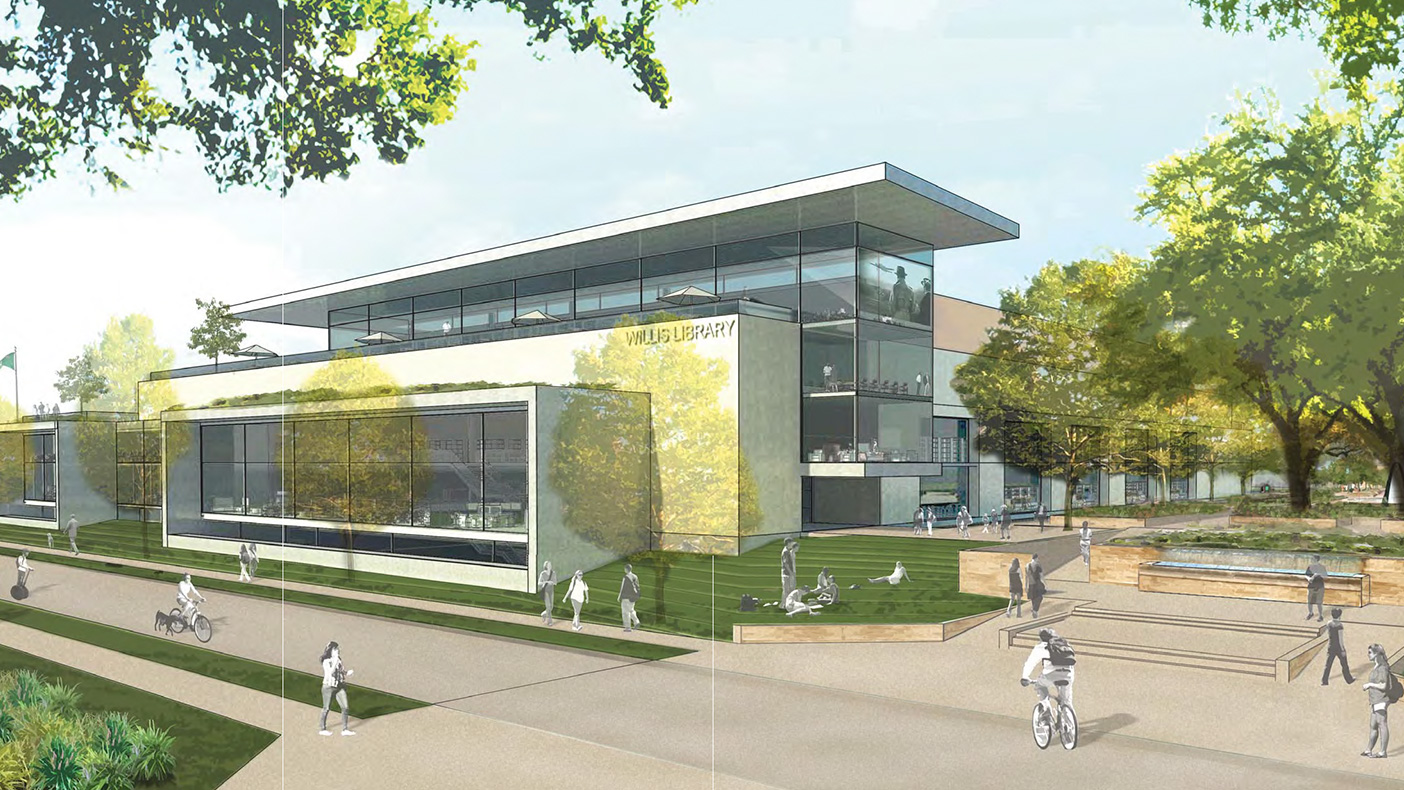 At the start of the study, we defined a vision and set a path for the development of the newly expanded Willis Library at UNT's Denton campus.