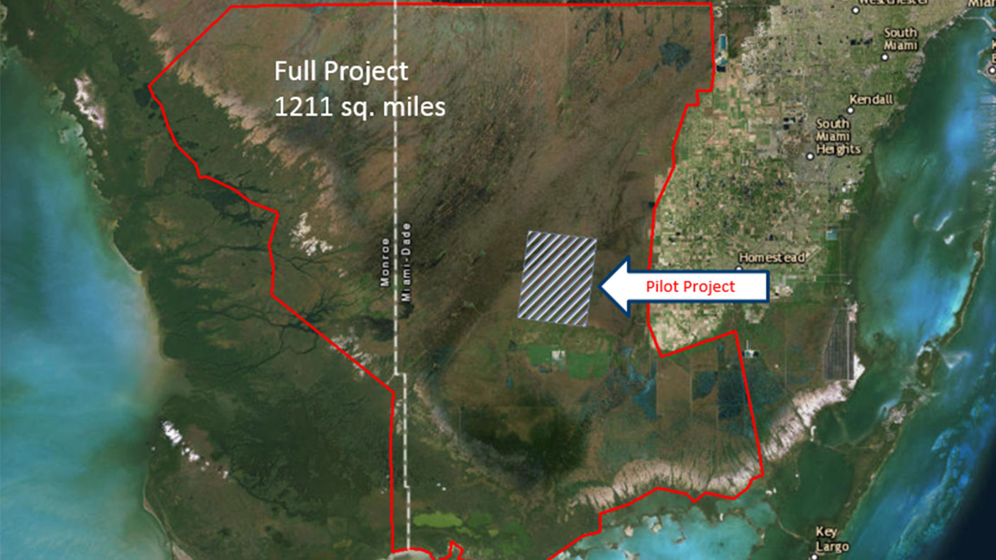 We're covering 1,211 square miles within the Everglades National Park to produce elevation data for the unique environment.